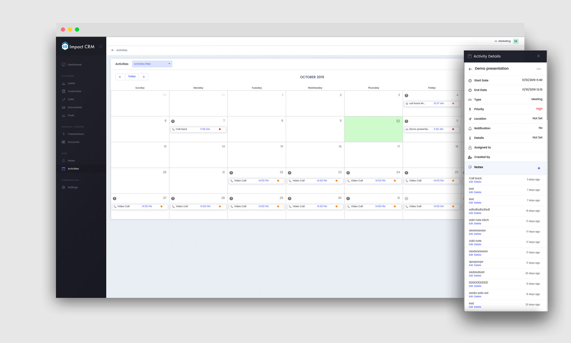 Forex CRM: Integrated appointment calendar